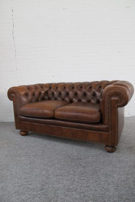 Bank Originele Engelse Chesterfield vintage midcentury
