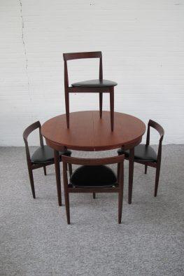 Eethoek Roundette Hans Olsen Frem Røjle danmark vintage midcentury
