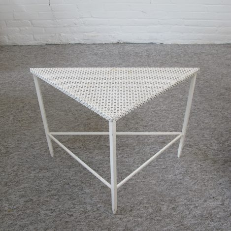 tafel Mathieu Mategot Artimeta triangle table Artimeta vintage midcentury