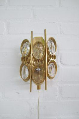 Lamp Palwa gold plated walllamp kristal vintage midcentury