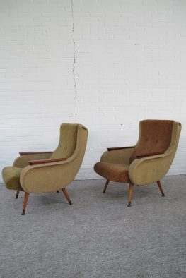 Fauteuil Marco Zanuso Italië lounge fauteuils vintage midcentury