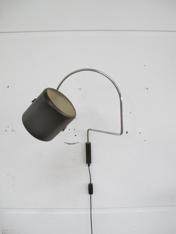 Lamp Anvia J.J.M Hoogervorst Elbow wandlamp vintage midcentury