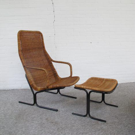 Fauteuil Voetenbank 514C Dirk van Sliedregt Gebroeders Jonkers vintage midcentury