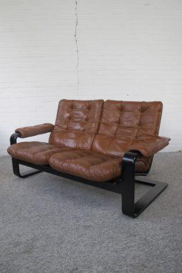 bank bankstel loungesofa Zweedse Lystolet midsentury vintage