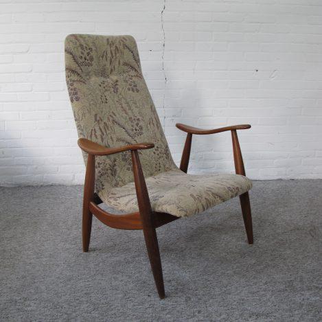 Fauteuil Loungefauteuil Louis van Teeffelen Wébé midsentury vintage