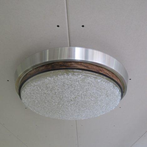 Lamp Metaal glazen Raak Amsterdam plafond vintage midcentury