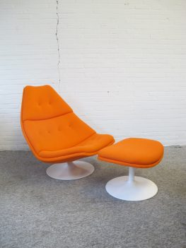 Fauteuil F511 voetenbank footstool Artifort Geoffrey Harcourt vintage midcentury