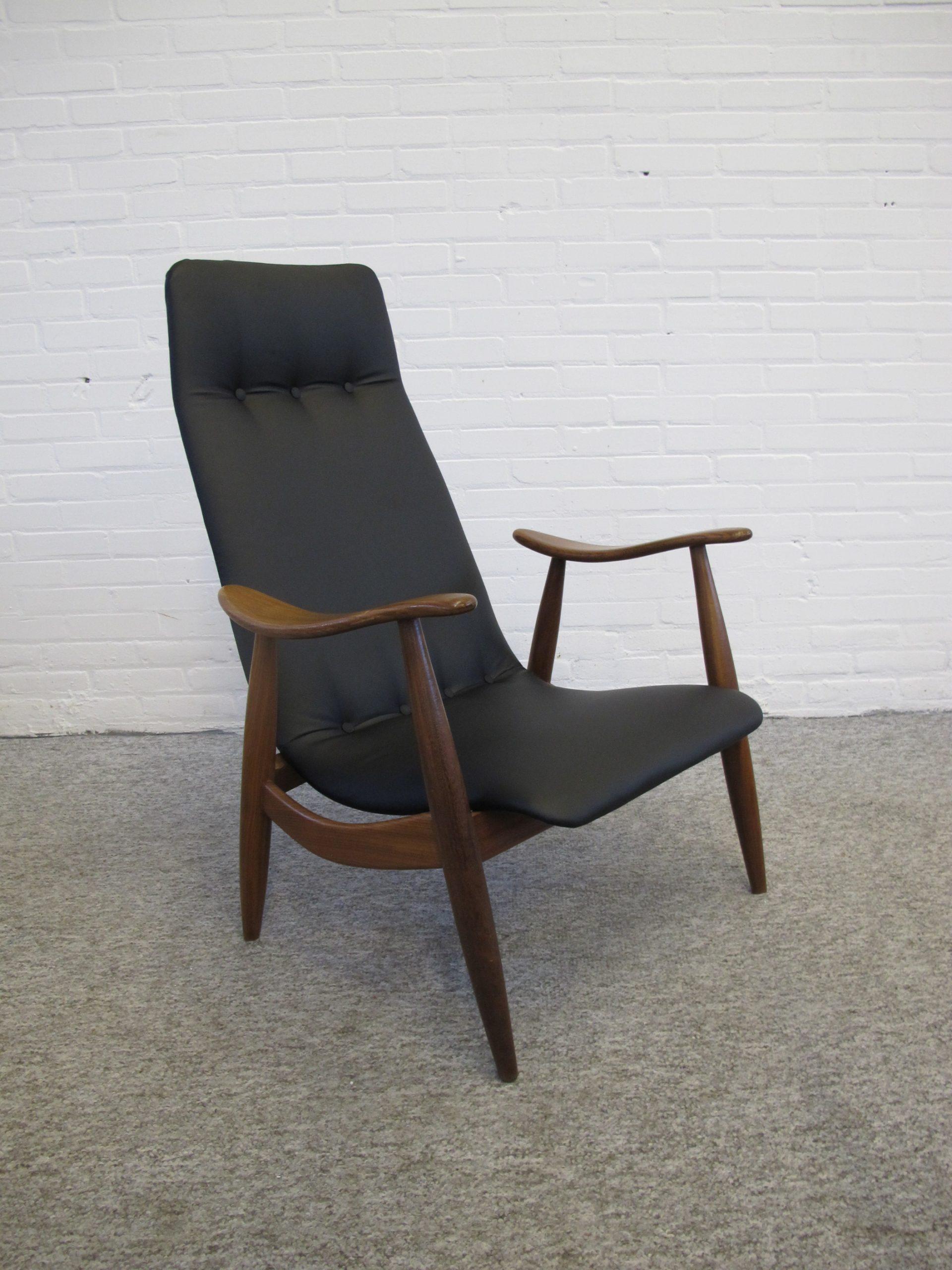 fauteuil lounge chair vintage louis van teeffelen midcentury webe