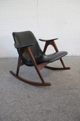 Fauteuil Rocking Chair Louis van Teeffelen Wébé vintage midcentury