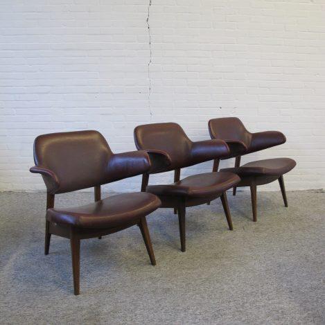 pinguin lounge fauteuils Louis van Teeffelen Wébé, vintage midcentury