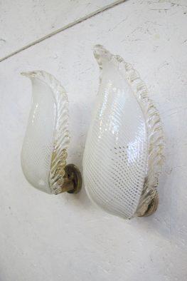 lamp Murano glass Hollywood Regency style wandlampen vintage midcentury