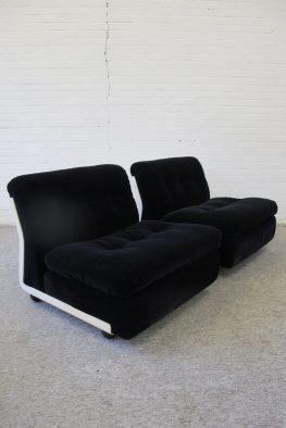 fauteuil Mario Bellini Amanta C and B Italia lounge Chairs vintage midcentury