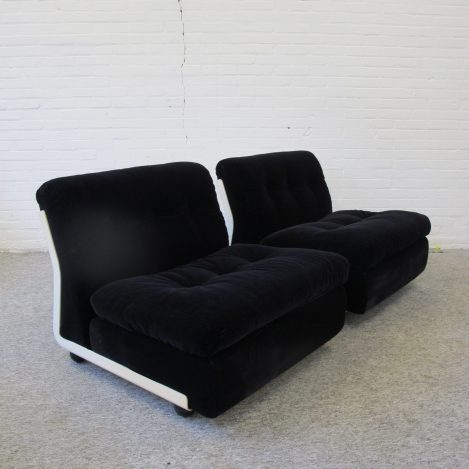 fauteuil Mario Bellini Amanta C and B Italia lounge Chairs vintage midcentury