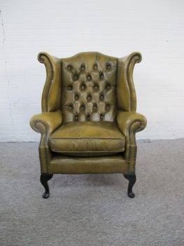 Fauteuil Originele Engelse Chesterfield armchair vintage midcentury
