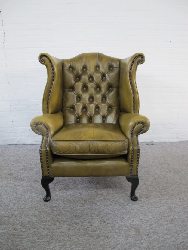 Fauteuil Originele Engelse Chesterfield armchair vintage midcentury
