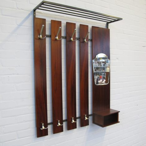 Pastoe palissanderhouten coat rack kapstok vintage midcentury