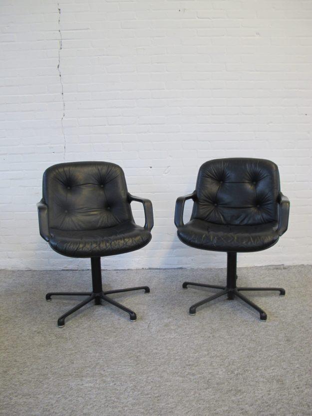 stoelen office chairs bureaustoelen Charles Pollock Comforto vintage midcentury