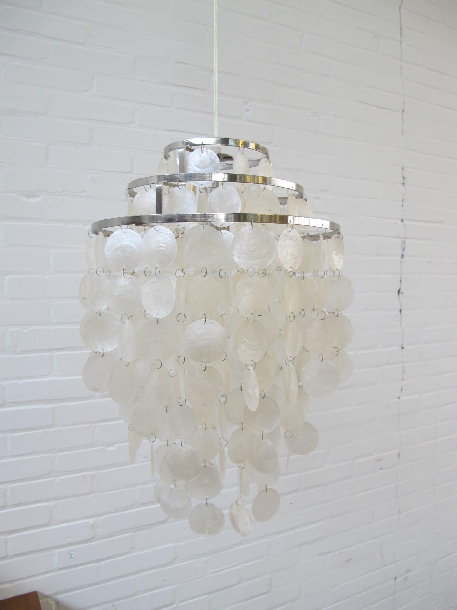 Lamp Mother of Pearl Fun 0DM Verner Panton vintage midcentury