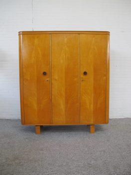 Kledingkast Wilhelm Lutjens wardrobe Den Boer Gouda vintage midcentury