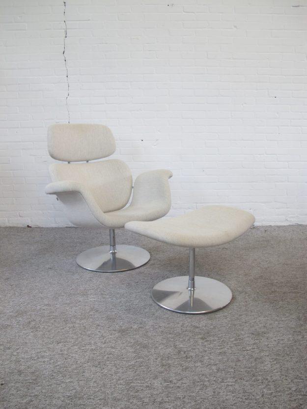 Big tulip lounge chair fauteuil Pierre Paulin Artifort vintage midcentury