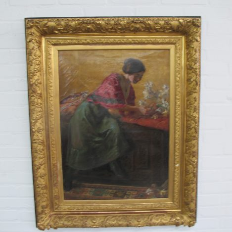 Antiek Schilderij Johannes Willem Simon de Groot olieverf vintage retro midcentury Sotheby's