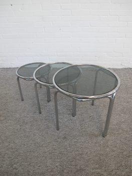 Miniset Nesting tables Italian Bijzettafeltjes vintage retro midcentury