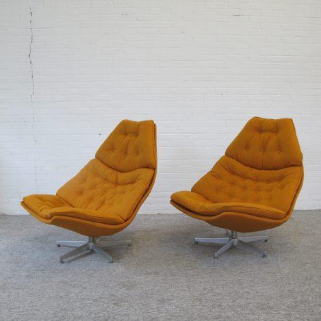 F588 F587 fauteuils armchairs Geoffrey Harcourt Artifort vintage retro midcentury