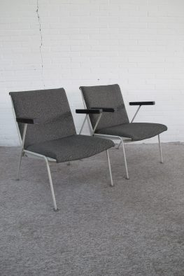 Wim Rietveld Ahrend de Cirkel oase fauteuils armchairs vintage retro midcentury