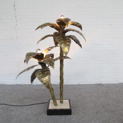 Maison Jansen palmboom vloerlamp palmtree floorlamp vintage retro midcentury