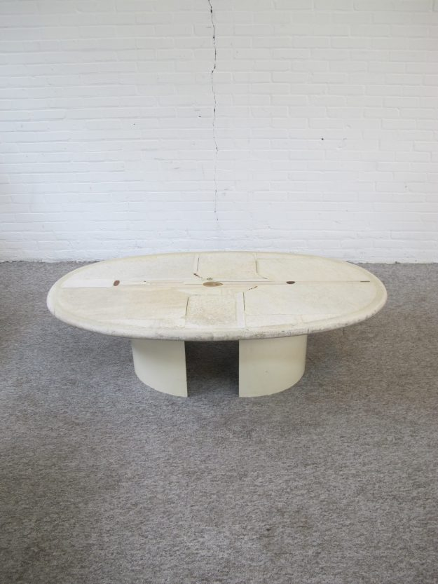 salontafel natuurstenen Paul Kingma natural stone coffee table vintage retro midcentury