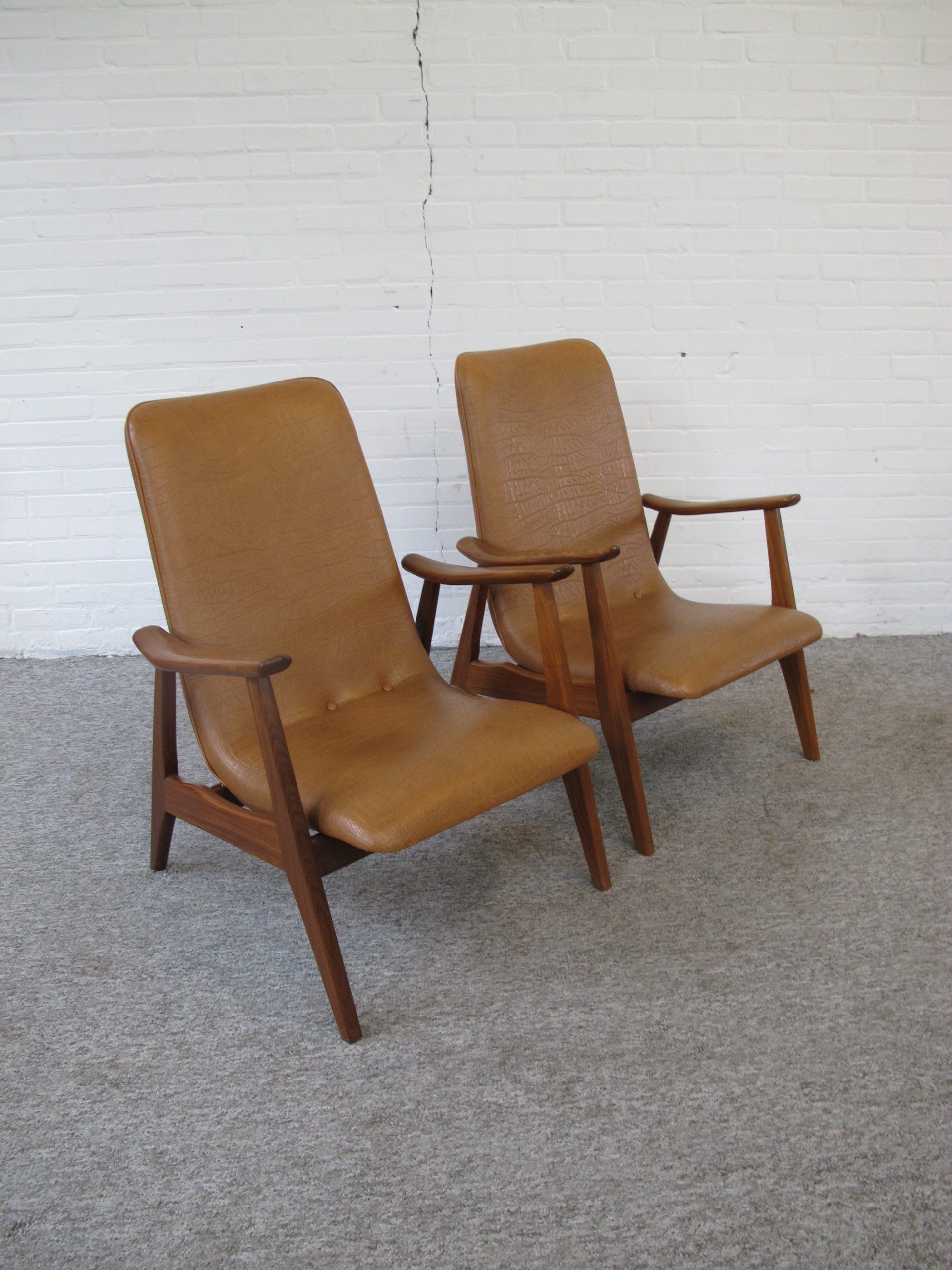 Armchair fauteuil Louis van Teeffelen Wébé lounge chairs vintage midcentury