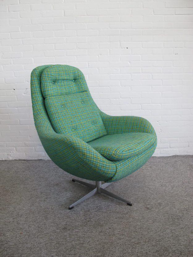 Fauteuil Deense Scandinavische Relax swivel armchair vintage midcentury