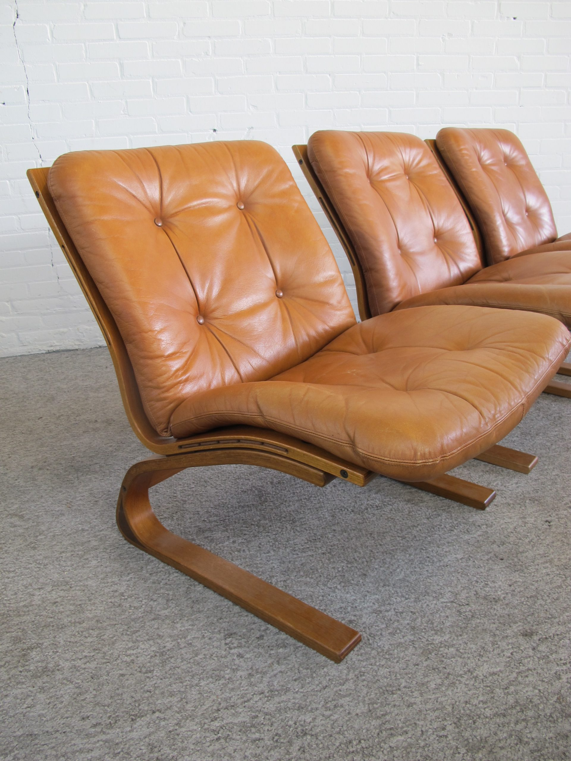 Fauteuil Kengu lounge Chairs Elsa & Nordahl Solheim Rybo Rykken vintage midcentury