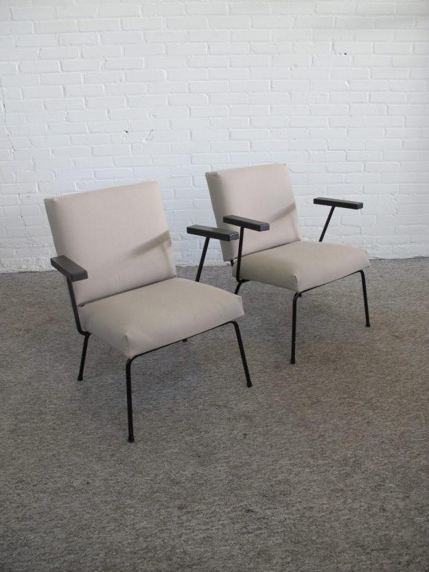 Fauteuil Wim Rietveld model 1401 Gispen armchair vintage midcentury