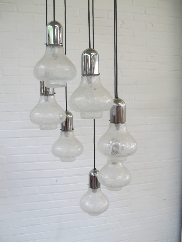 Lamp lamps Raak Amsterdam space age hanglampen vintage midcentury
