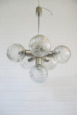 Lamp Peil and Putzler space age hanglamp vintage midcentury