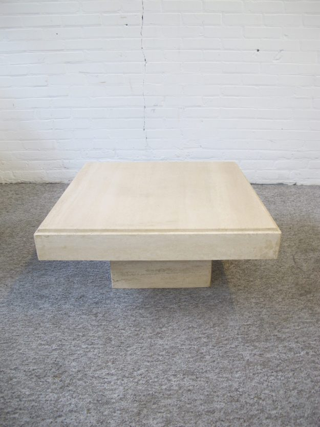 marble coffee table marmeren Travertin salontafel vintage midcentury