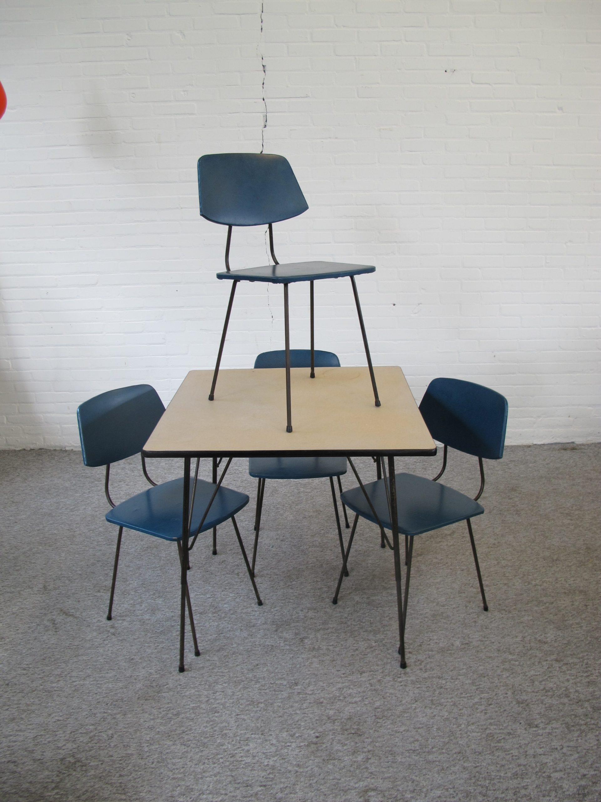 Table dining set eethoek tafel Rudolf Wolf Elsrijk vintage midcentury