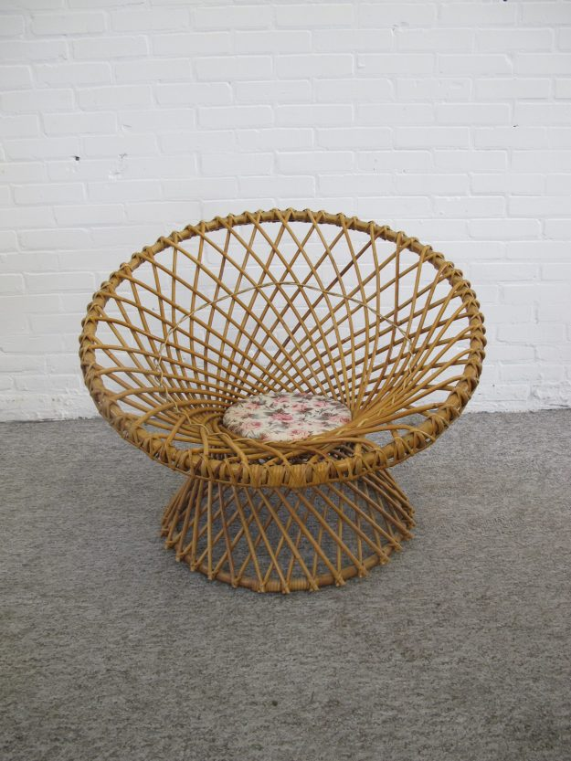 Rotan rattan chair fauteuil Rohe Noordwolde Franco Albini vintage midcentury
