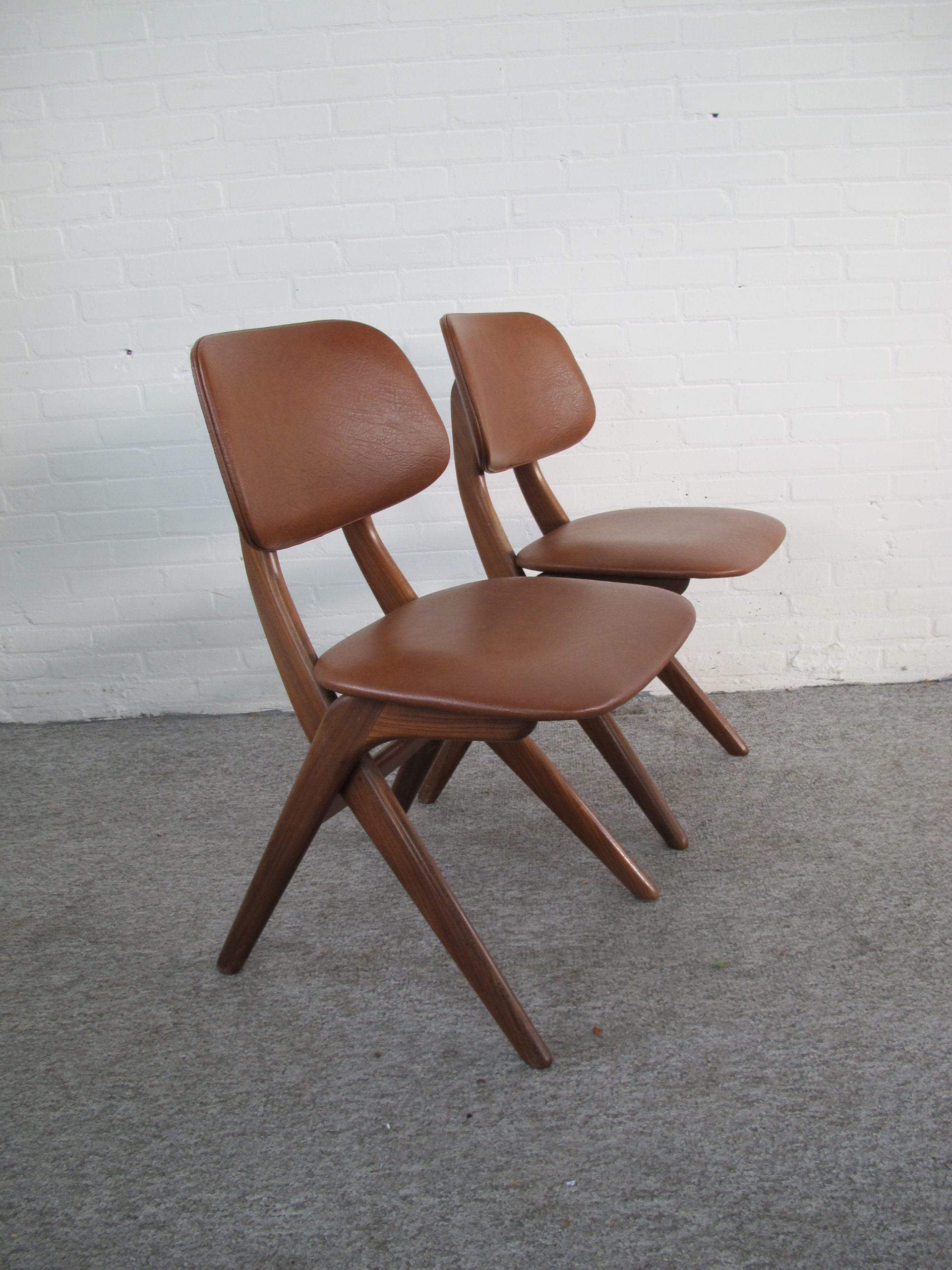 stoelen scissor chairs van der Veer Joure Louis van Teeffelen vintage midcentury