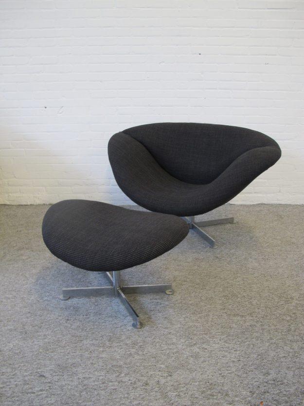 Fauteuil Lip Chair ottoman Rudolf Wolf Rohe Noordwolde vintage midcentury