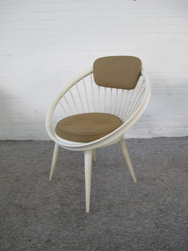 Fauteuil Armchair Circle Chair Yngve Ekström Swedese vintage midcentury