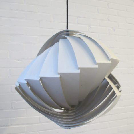 Lamp Hanglamp Pendant Konkylie Louis Weisdorf Lyfa Denemarken vintage midcentury