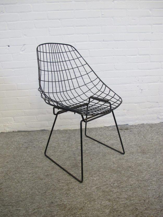 SM05 draad stoelen wire chair Cees Braakman Pastoe vintage midcentury