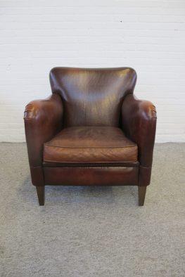 muylaert Fauteuil armchair schapenleren sheep leather club fauteuil vintage midcentury