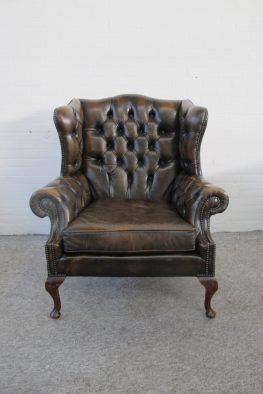 fauteuil armchair Engelse Springvale Chesterfield vintage midcentury