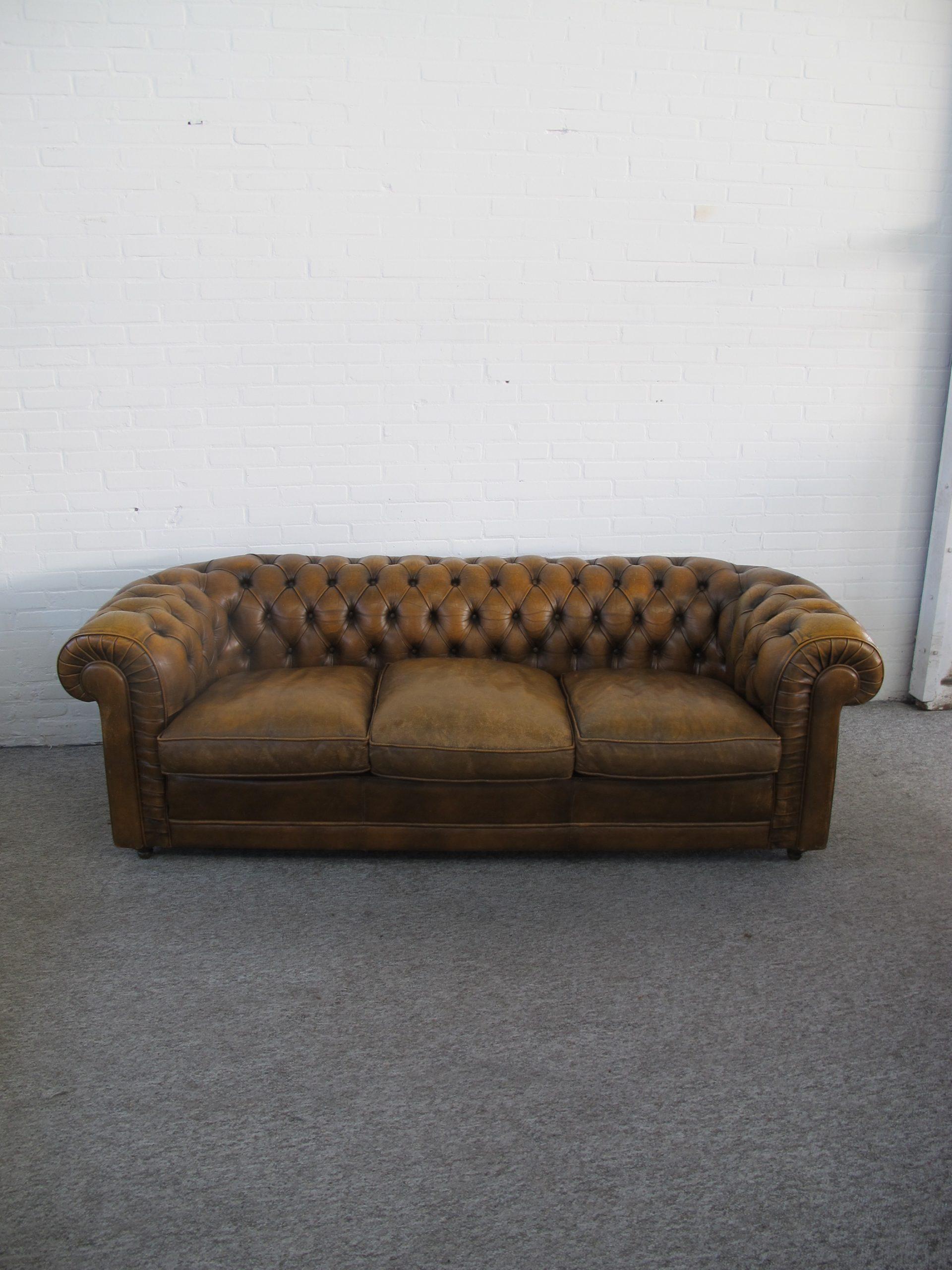 Bank sofa Engelse Springvale Pegasus Chesterfield vintage midcentury
