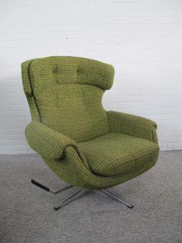 Fauteuil Scandinavian Egg loungechair relax swivel armchair vintage midcentury