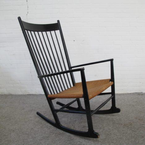 Fauteuil Schommelstoel Rocking chair J-16 Hans Wegner FDB Møbler vintage midcentury
