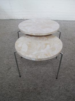 Pastoe Spectrum Bijzettafeltjes Side tables miniset nesting tables vintage midcentury